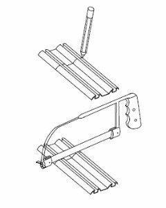 Cutting bottom track for wardrobe doors