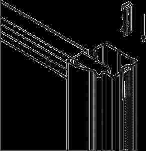 Fix the clip strip on your mirror wardrobe doors