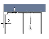 Fitting aluminium top track