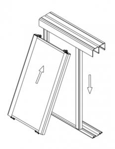 Fitting aluminium mirror door