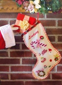homemade christmas stocking